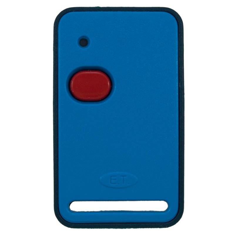 Et Blue 1 Button Dual Code Remote Transmitter Front Mr