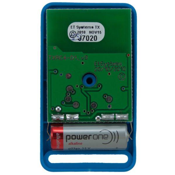 ET Blue 1 button dual code remote transmitter