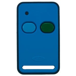 ET Blue 2 button dual code remote transmitter