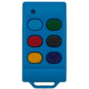 ET Blue 6 button dual code remote transmitter