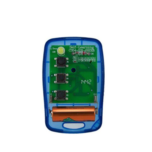 Griffon 3 button transparent blue 433mHz remote transmitter