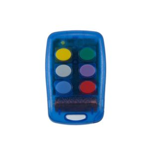 Griffon 6 button transparent blue 433mHz remote transmitter