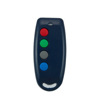 QTron 403mhz blue and grey 4 button remote transmitter
