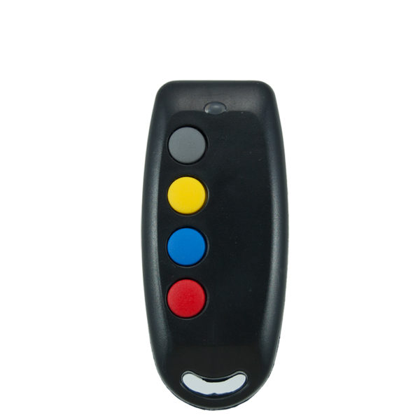 QTron 433mhz black and black 4 button remote transmitter