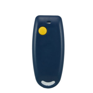 QTron 433mhz blue and grey 1 button remote transmitter