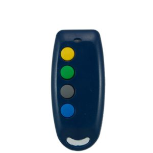 QTron 433mhz blue and grey 4 button remote transmitter