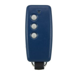 QTron 868mhz blue and blue 3 button remote transmitter