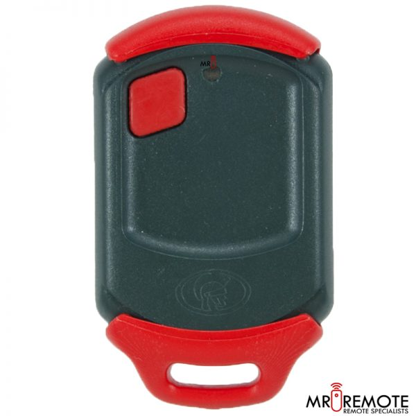 Red Centurion classic 1 button remote transmitter front