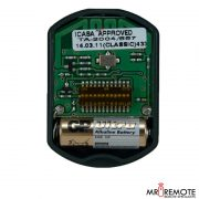 Red Centurion classic 1 button remote transmitter internal