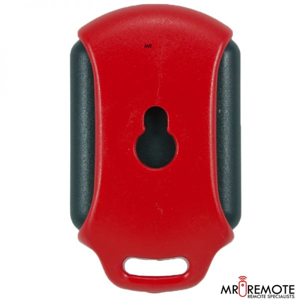 Red Centurion classic 2 button remote transmitter back