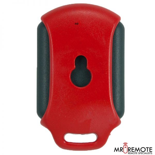 Red Centurion classic 3 button remote transmitter back