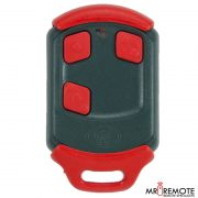 Red Centurion classic 3 button remote transmitter front