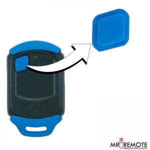 Centurion spare 1 button remote rubber blue
