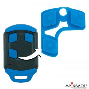 Centurion spare 4 button remote rubber blue