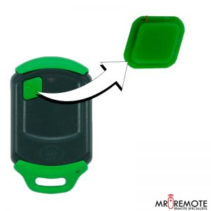 Centurion spare 1 button remote rubber green