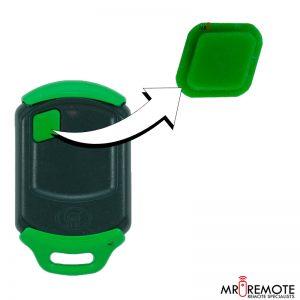 Centurion spare 1 button remote rubber green