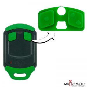 Centurion spare 2 button remote rubber green