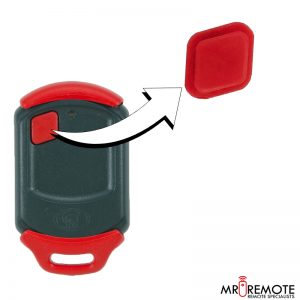 Centurion spare 1 button remote rubber red