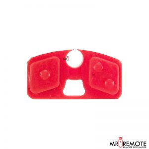 Centurion spare 2 button remote rubber red