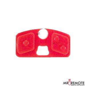 Centurion spare 2 button remote rubber red