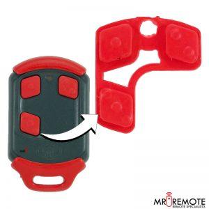 Centurion spare 3 button remote rubber red