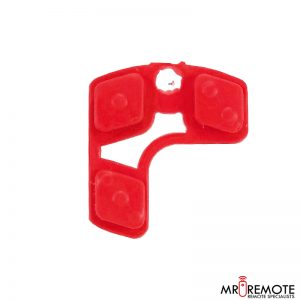 Centurion spare 3 button remote rubber red