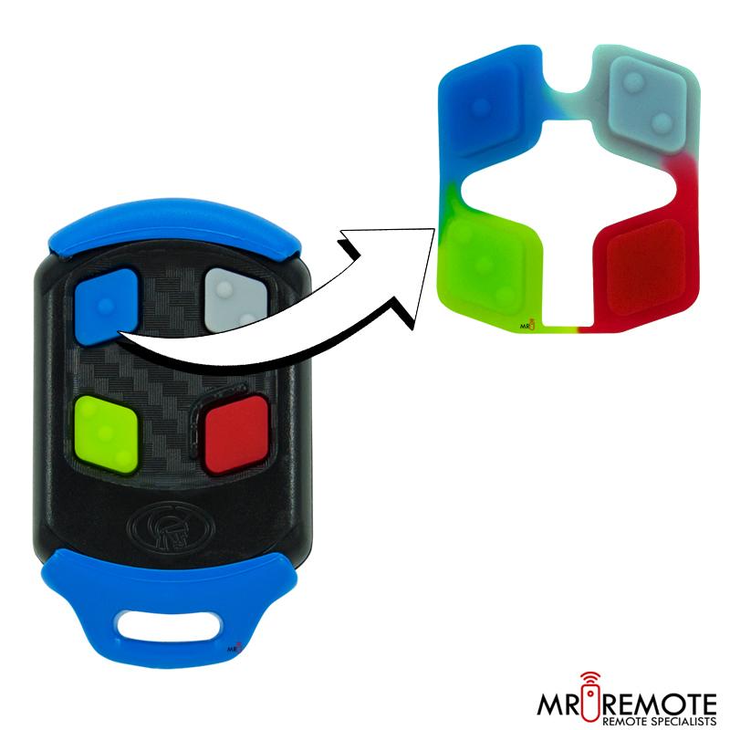 Centurion Spare 4 Button Remote Rubber Blue Mr Remote