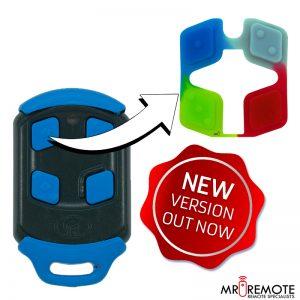 Centurion spare 4 button remote rubber blue