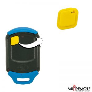 Centurion spare 1 button remote rubber yellow